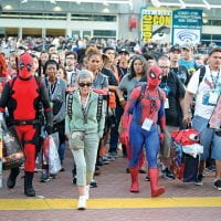Crowd of people at Comic-Con