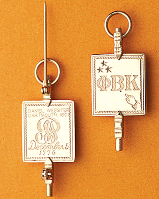 Phi Beta Kappa Key: Obverse (right) & Reverse (left)