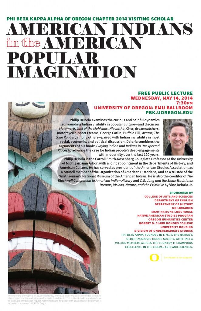 Phil Deloria Public Talk_PBK Visiting Scholars 2014 Poster-t