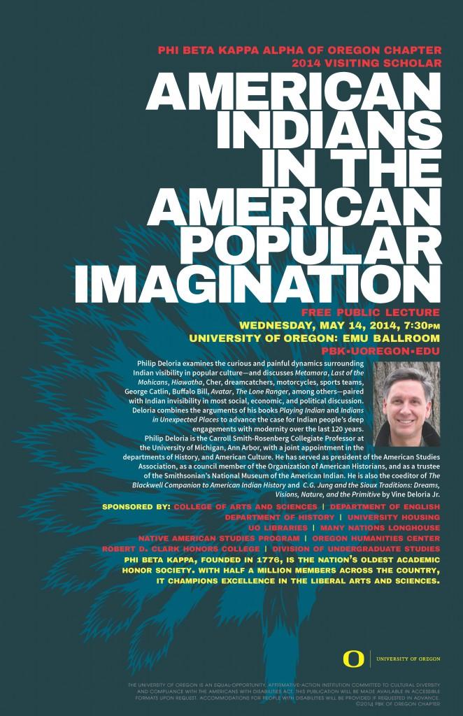 Phil Deloria Public Talk_PBK Visiting Scholars 2014 Poster-h