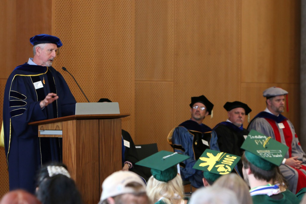 Scott Coltrane Senior Vice President and Provost, delivers the initiation ceremony keynote to the 2014 members-elect