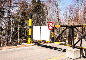 Road closed by gate