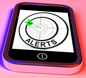 Cell phone alert