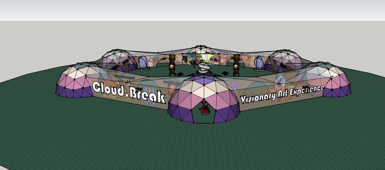 Exhibition Design // Cloud.Break: Visionary Art Experience