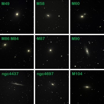 Composite image of selected Virgo galaxies