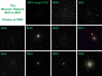 Messier Objects M45 to M55