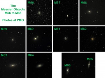 Messier Objects M56 to M66