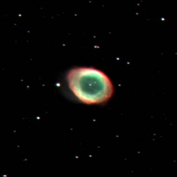 Photo of Ring Nebula (M57) taken Sept. 2016 at PMO.