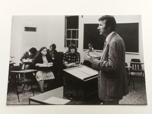 Frohnmayer in his first year of teaching at UO in 1970