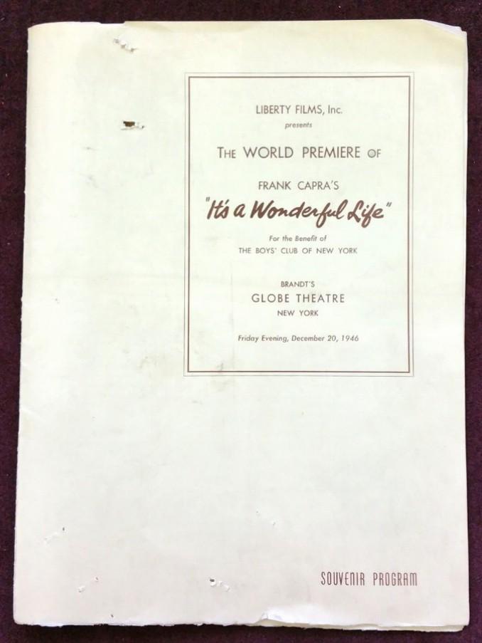 Souvenir program for the premiere in December 1946.