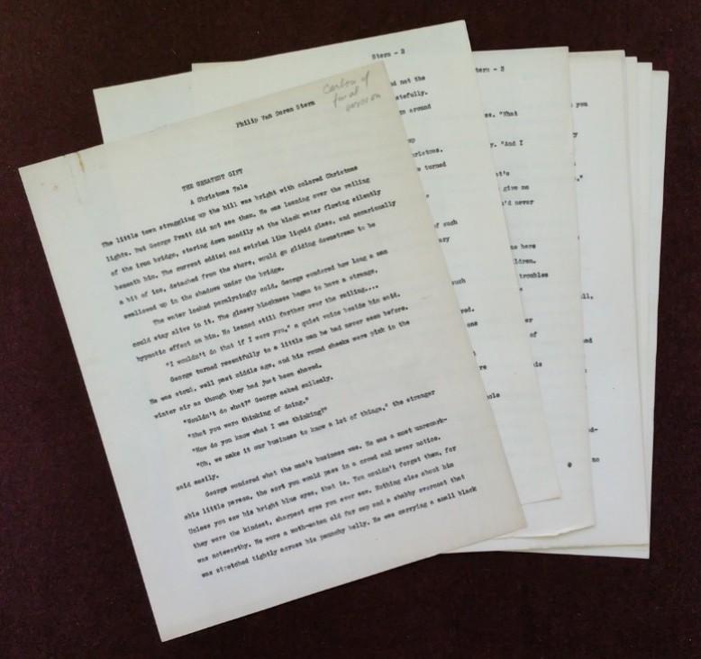 "Original manuscript for ""The Greatest Gift"" short story."