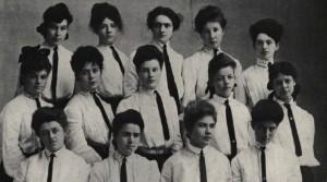 1904-1905 Beta Epsilon members (1905 Webfoot)