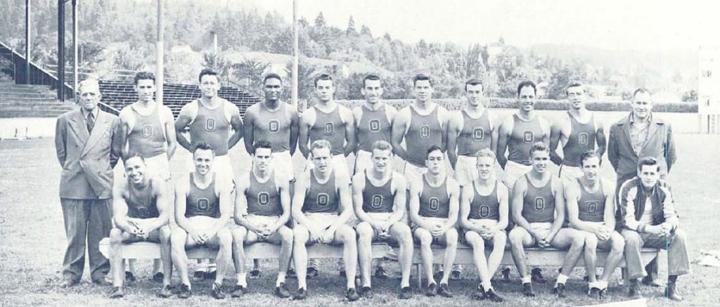 Clifford F. Johnson 1946 UO Track Team Oregana 1947