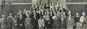 Cosmopolitan Club members (Franklin is 3rd row, second from left) Oregana '31