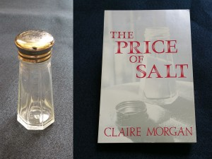 Tee Corinne's saltshaker in SCUA and the 1984 reprint of The Price of Salt it was featured on.