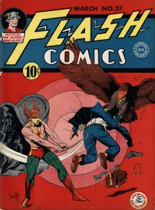 A Flash comic featuring Hawkman from March 1942 in the Gardner Fox papers.