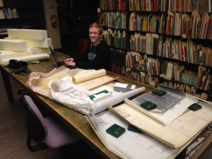 Tom Beech in the Special Collections and University Archives Processing Room