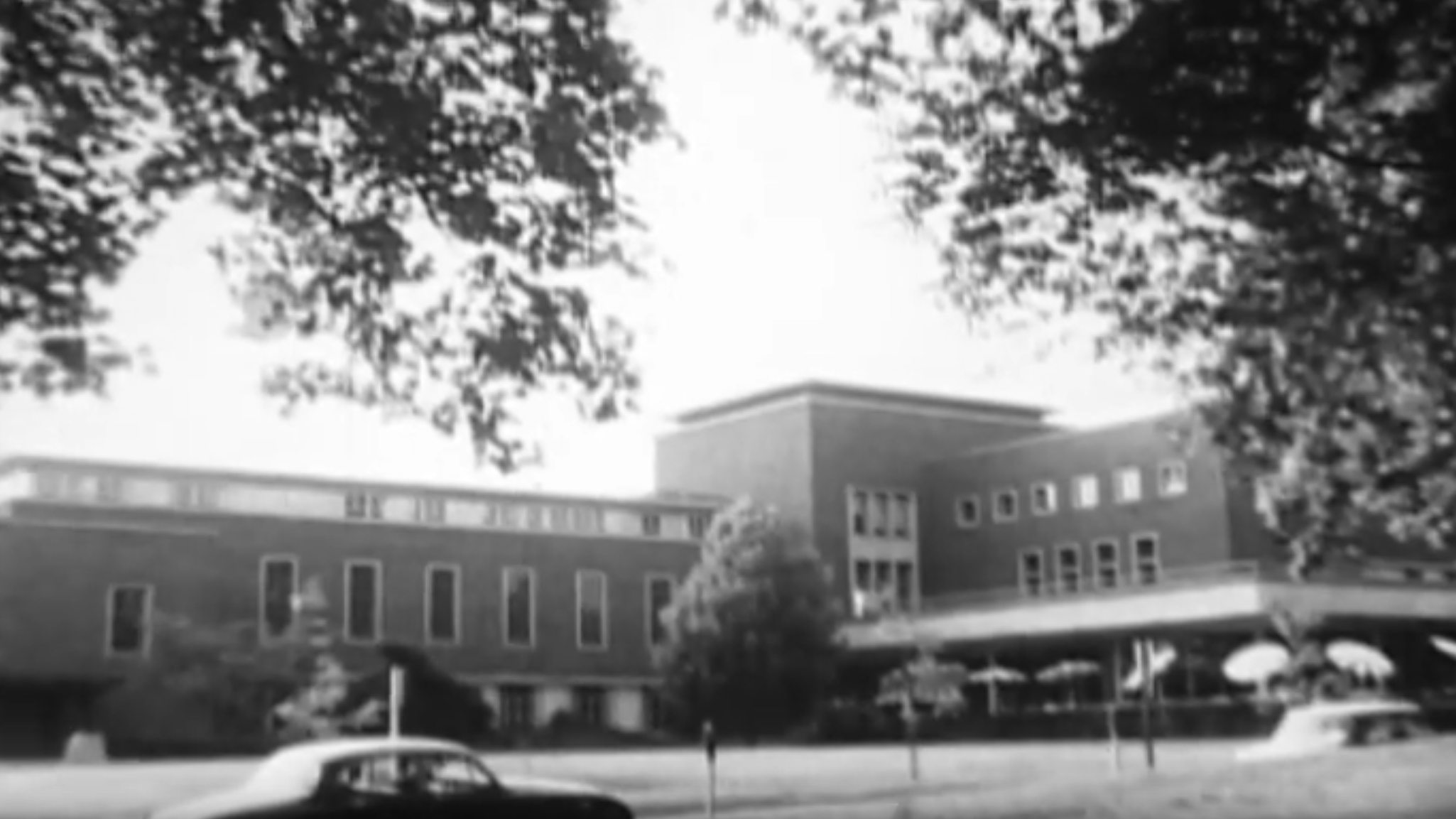 "A still from ""EMU recreations,"" filmed by student Ken Settlemier in 1966."