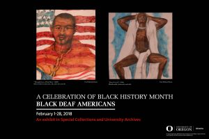 Poster of exhibit titled Black Deaf Americans.