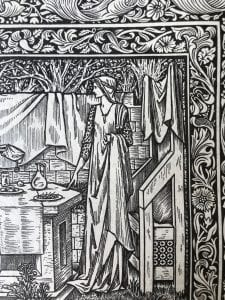 Detail of woodcut illustration