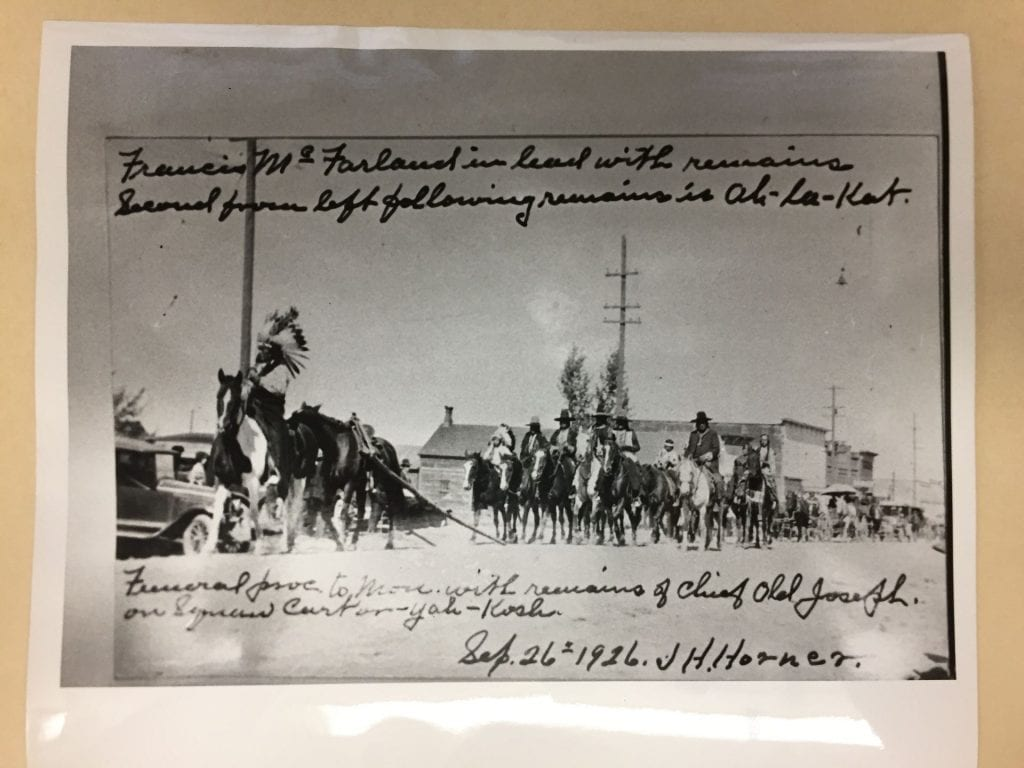 Funeral procession of Chief Joseph