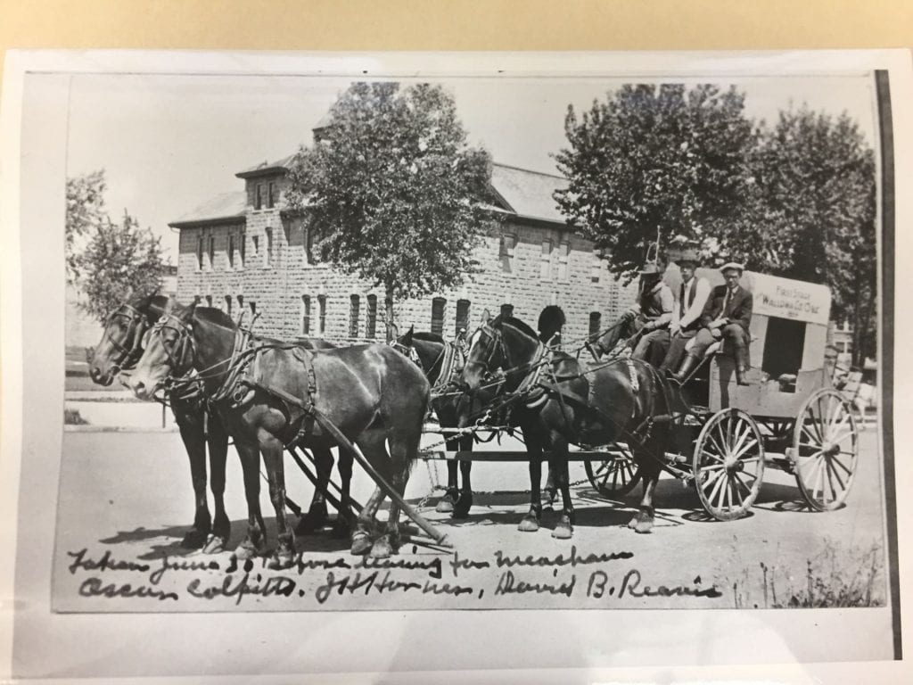 Horses drawn wagon