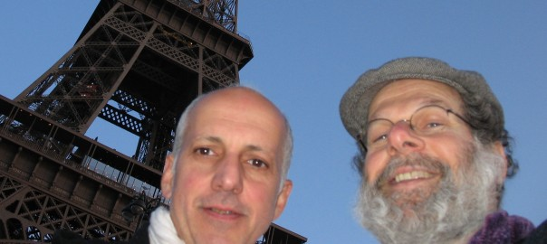 Photo: George Papagiannis (left) and Dr. Peter Laufer (right) in Paris.
