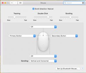Mouse System Prefs