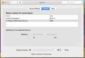 Sound Output System Prefs
