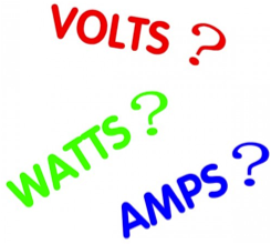 watts amps