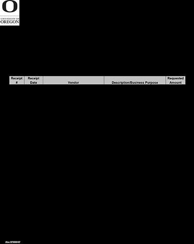 Miscellaneous Reimbursement Form