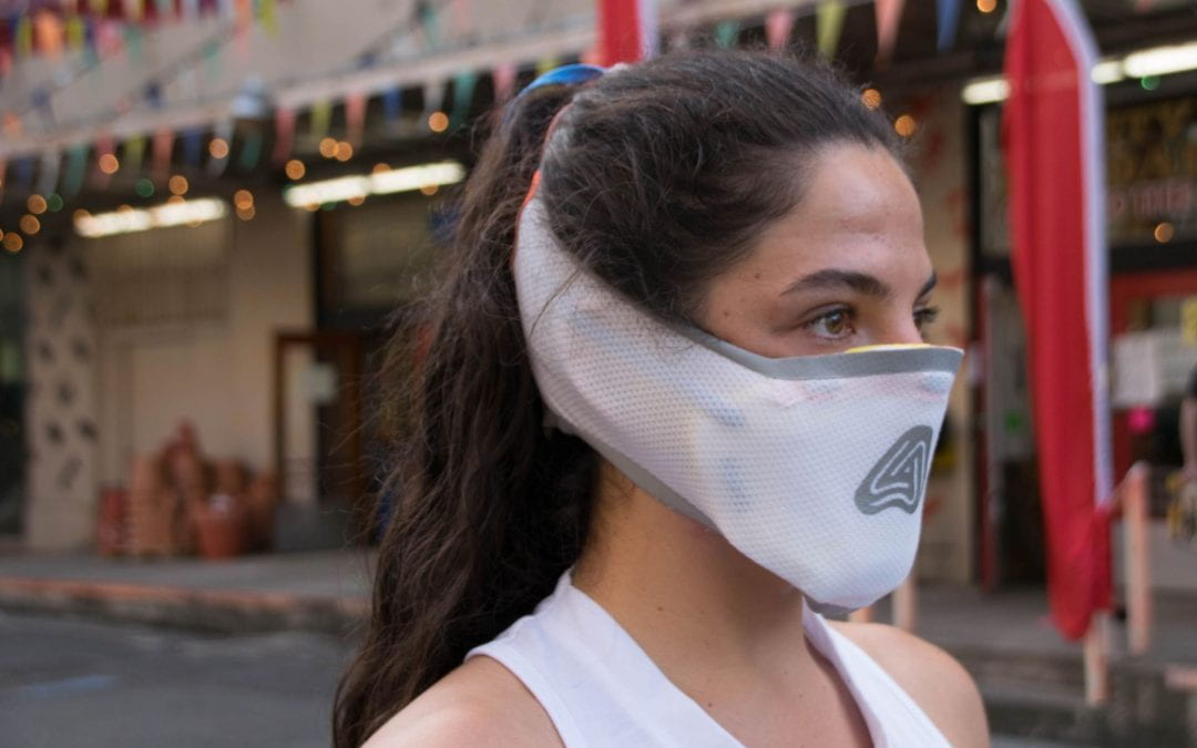 "Sports Product design graduate Oli Bartoszek designs an air filtration mask, ""Airbender"""