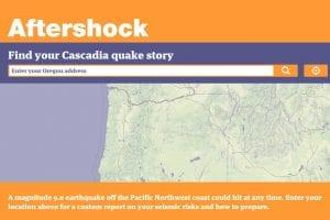 Oregon aftershock map presentation