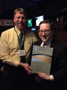 Dr. Andrew Marcus and new UO President Michael Schill.
