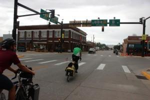biking thru streets