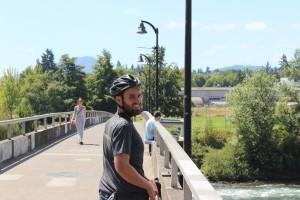 charlie on a bike