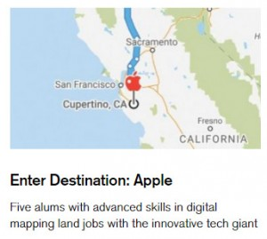 Geography graduates go to work for Apple