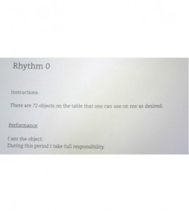 rhythm 0 instructions