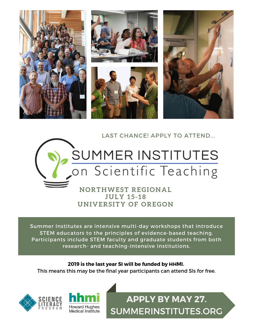 9cca934136 Summer Institutes (SIs) are intensive multi-day workshops that introduce  STEM educators to the principles of evidence-based teaching.