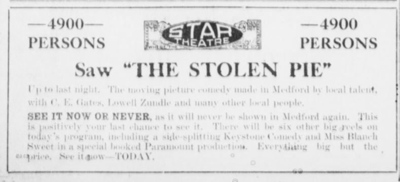 Medford Morning Tribune, June 24, 1916, p. 2