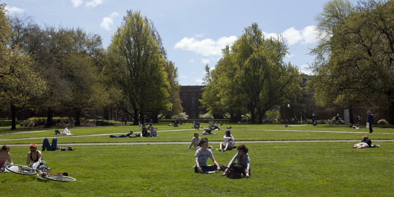 Sunny day in the quad