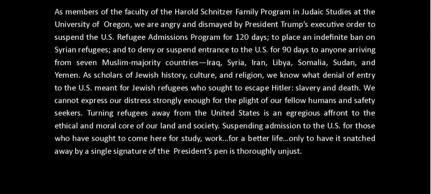 Judaic Studies Faculty Statement*
