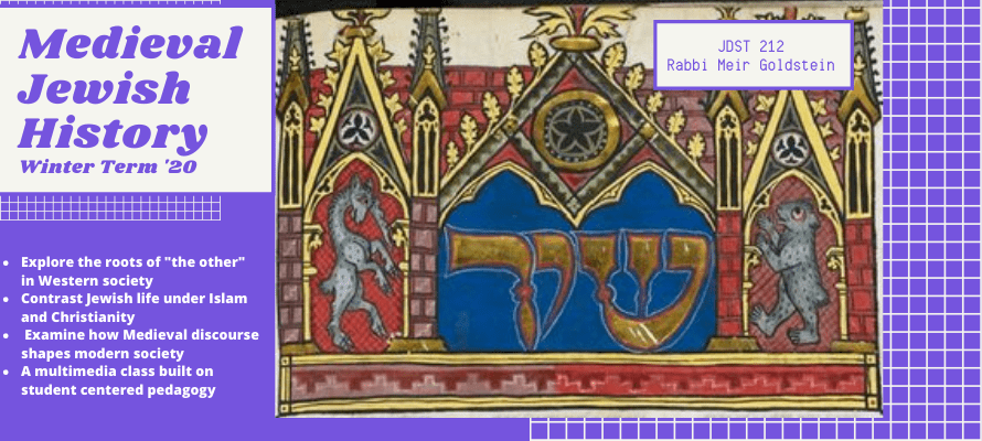 JDST 212: Medieval and Early Modern Judaism (Winter 2020)