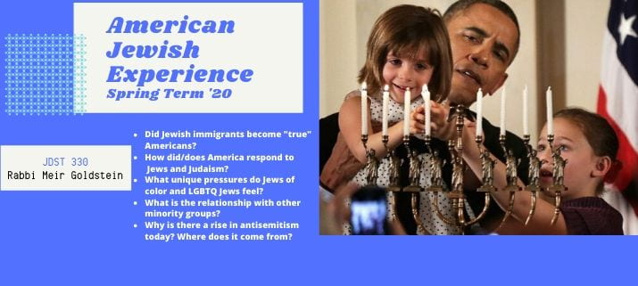 JDST 330: American Jewish Cultures (Spring 2020)