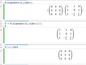 Eigenvectors and eigenvalues in Sage | Linear Algebra in