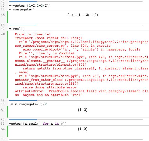 Complex numbers in Sage   Linear Algebra in SageMathCloud, Q2