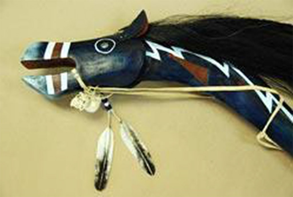 Blue Roan Horse effigy by Butch Thunderhawk