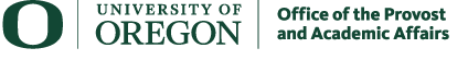 University of Oregon Office of the Provost and Academic Affairs logo
