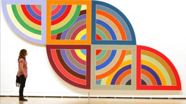 Protractor series 1967 1970 frank stella for Minimal art obras y autores