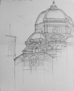 Sketch of Duomo - Firenze_KellyBuchanan
